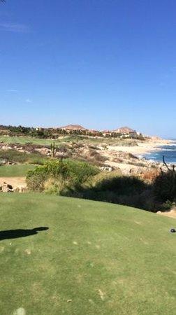 Cabo del Sol Golf Club : #18. Soft 285yd fade w/ Driver, 130yd PW to 15ft for a Par-Bird-Bird finish.