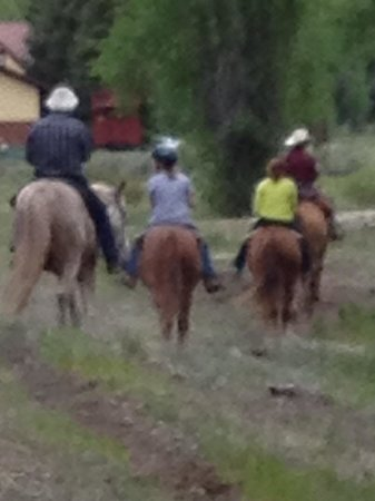 Cottonwood Cove: Family riding horses