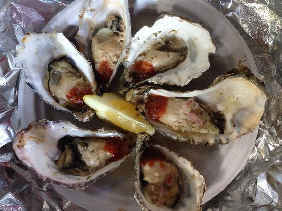 Fisherman's Cove: 1/2 doz. garlic butter oysters
