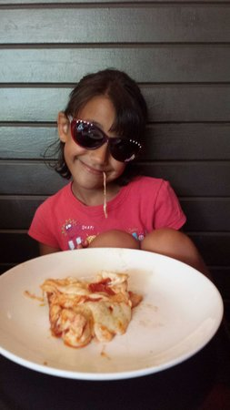 New York City Pizza: My daughter loves the ooey gooey cheese
