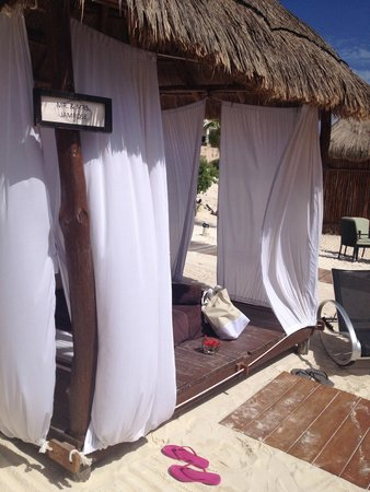Secrets Maroma Beach Riviera Cancun: Private Cabana with your name on the sign