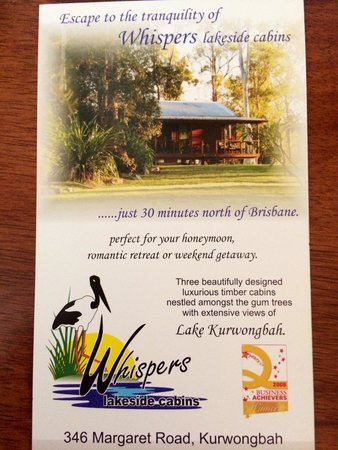 Whispers Lakeside Cabins: A little slice of heaven, just north of Brisbane