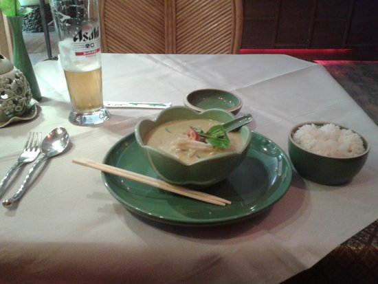 Jintana Thai Restaurant: green thai curry. lovely