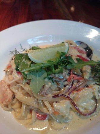 Buderim Tavern: lobster and salmon pasta
