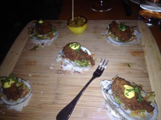 David Burke Kitchen: crispy oysters