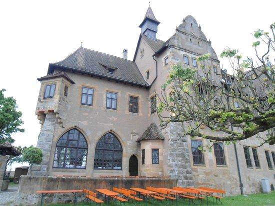 Altenburg: Vista do fundo do castelo.