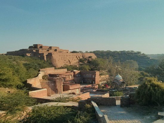 Old Mandore fort (and janana mahal) at the back side of Mandore gardens