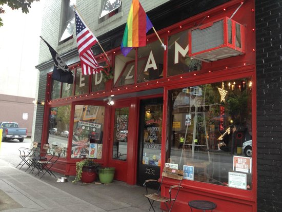 Bedlam Coffee: outdoor signage