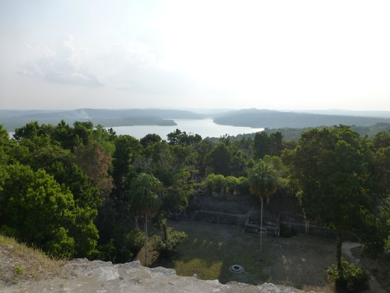 Nitun Private Reserve: View from top of Yaxha Temple