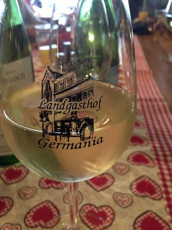 Landgasthof Germania: Wine with dinner