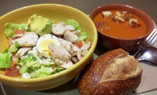 Panera Bread: U Pick 2-tomato soup and cob salad