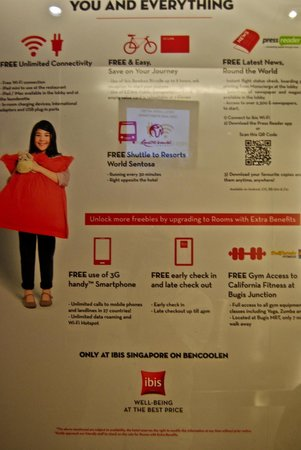 Ibis Singapore on Bencoolen: Alcune gratuità