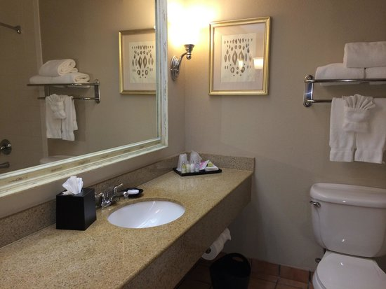 Pearl South Padre: Bathroom looks clean from the surface