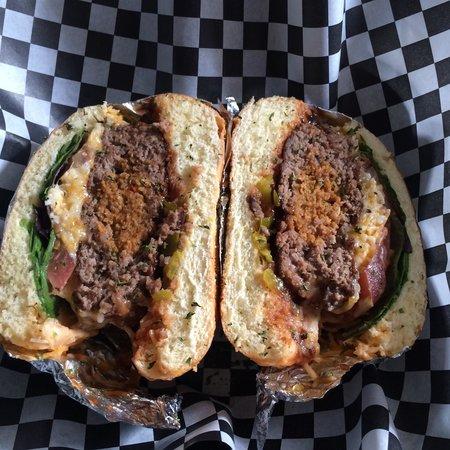 Dblblk CAFE: Stuffed Hot Sausage