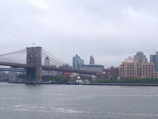 South Street Seaport: It was an overcast day but this is the view from the upper observation deck.