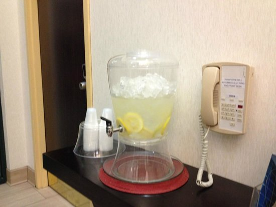 Comfort Inn Madison - Downtown: Lemon ice water
