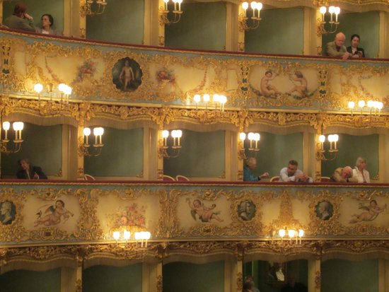 "Teatro La Fenice: Teatro ""La Fenice""  -  interior taken from our box"