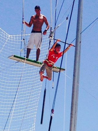 Club Med Cancun Yucatan: Soaring on the trapeze