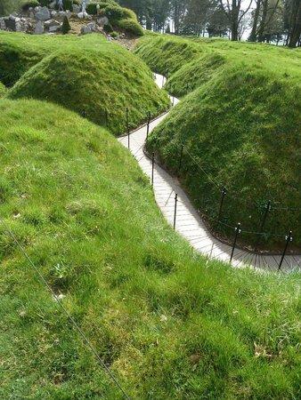 Terres de Memoire Somme Battlefield Tours: Beaumont-Hamel Newfoundland Memorial, trench