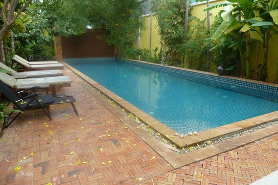 Golden Mango Inn : Nice pool with cascading water-wall at far end