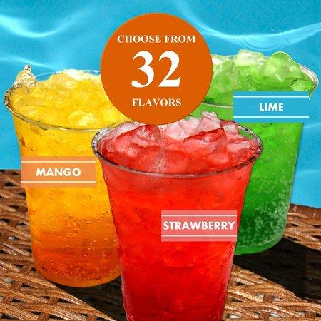 Island Oasis Hawaiian Shave Ice: We now offer Italian Sodas in 32 yummy flavors.