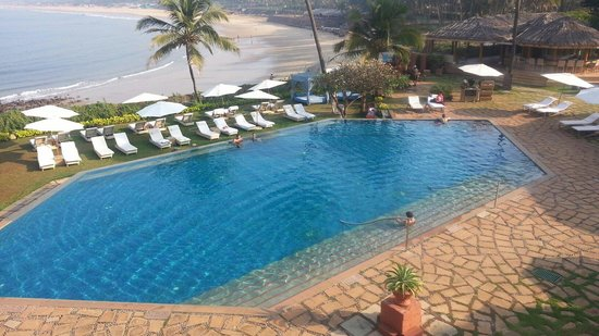 Vivanta by Taj - Fort Aguada, Goa: Swimming pool view from one of the terrace gardens.