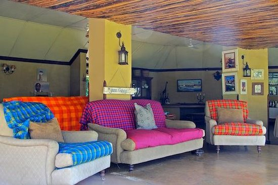 Shackelton's: The lounge area of the lodge next to the swimming pool.