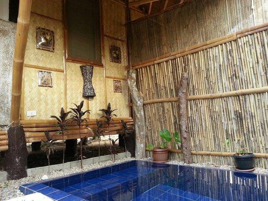 Cashew Grove Beach Resort : 私家庭院的泡澡池