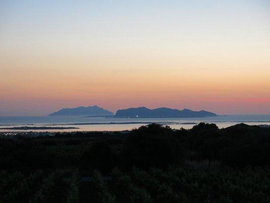 Baglio Donna Franca : Panorama delle isole Egadi