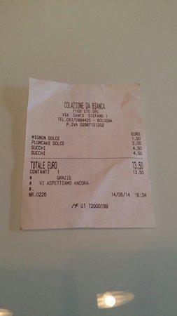 Colazione da Bianca: Prezzi assurdi! Guardate il succo di frutta!