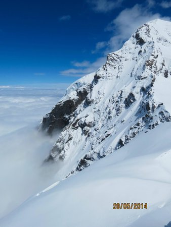 Jungfraujoch : View from the deck
