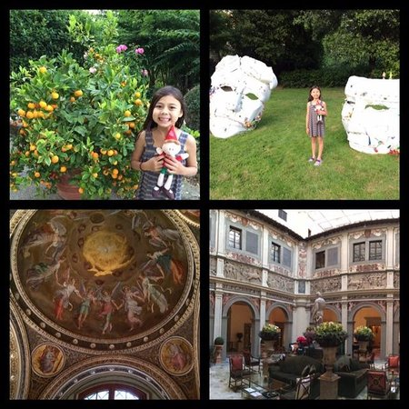Four Seasons Hotel Firenze : Gardens, sculptures in the garden, frescoes and architecture