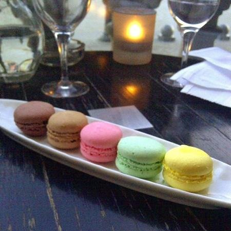 dessert of macarons served at cafe marly