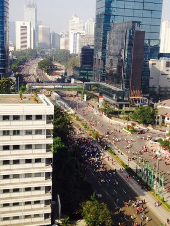 Mandarin Oriental Jakarta : Car free Sunday view