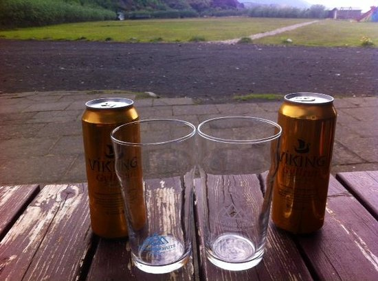 Volcano Huts Thorsmork: Extremely expensive Icelandic beer