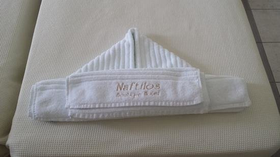 Hotel Naftilos: Origami with towels!