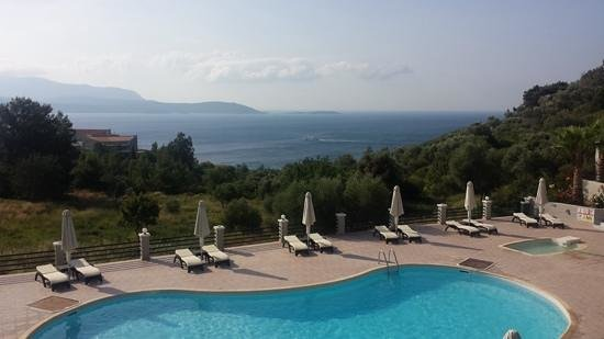 Hotel Naftilos: view from our room