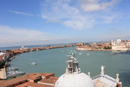 San Giorgio Maggiore: Panoramic view from the bell tower