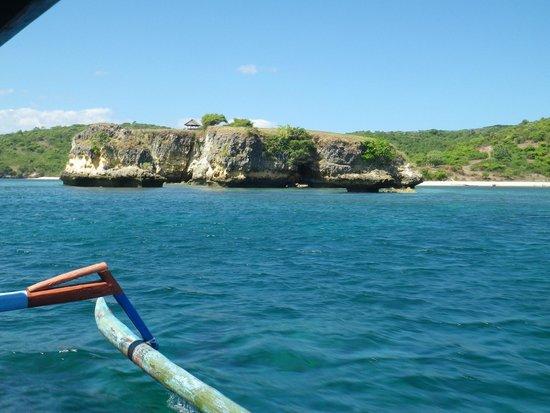Pink Beach: deep blue sea