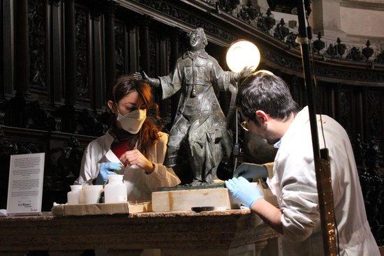 San Giorgio Maggiore : Restoration work in the church