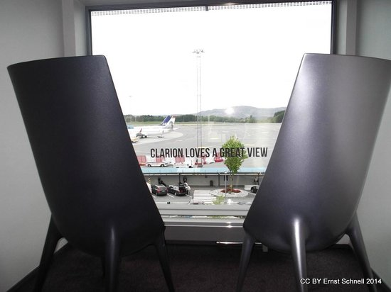 Clarion Hotel Bergen Airport : View from corridor