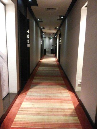 The Fern Residency: corridor passage