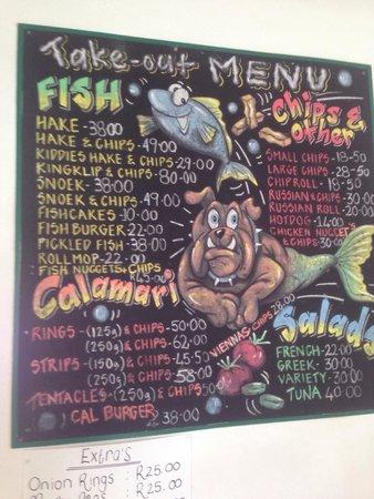 Salty Sea Dog: Take out menu