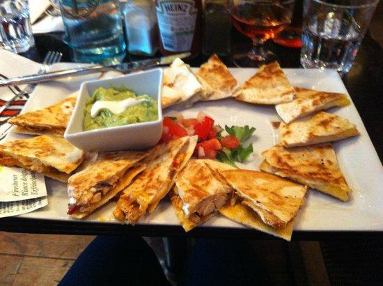 Indiana Café - Montparnasse : Quesadilla tasting platter