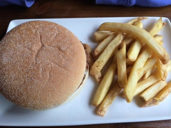 Chiquito - Belfast - Victoria Square: cheese burger and fries