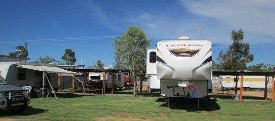 Crocodile Caravan Park: Grassed powered sites