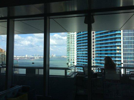 Conrad Miami: View from balcony next to the reception