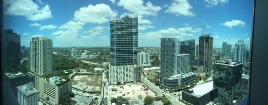 Conrad Miami: Panoramic view from the hotel's reastaurant