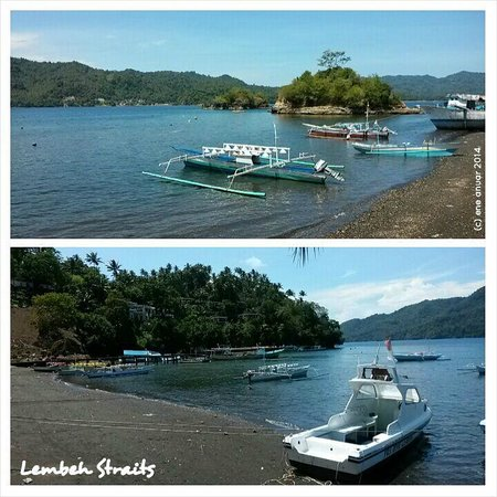 YOS Dive Lembeh: View of Lembeh Straits from the resort