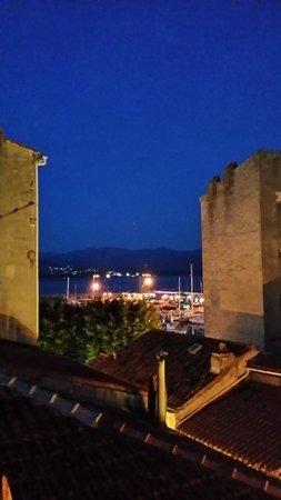 Hotel Palazzu U Domu: view from balcony at night
